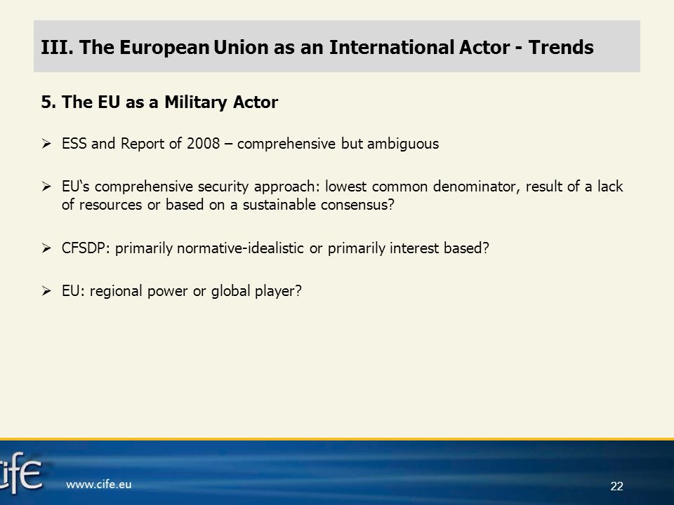 The European Union as a Global Actor