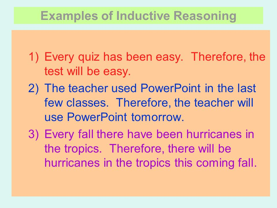 deductive and inductive reasoning Prepare for deductive reasoning tests online try out hundreds of practice questions including syllogisms, seating arrangements, and more start practising now.