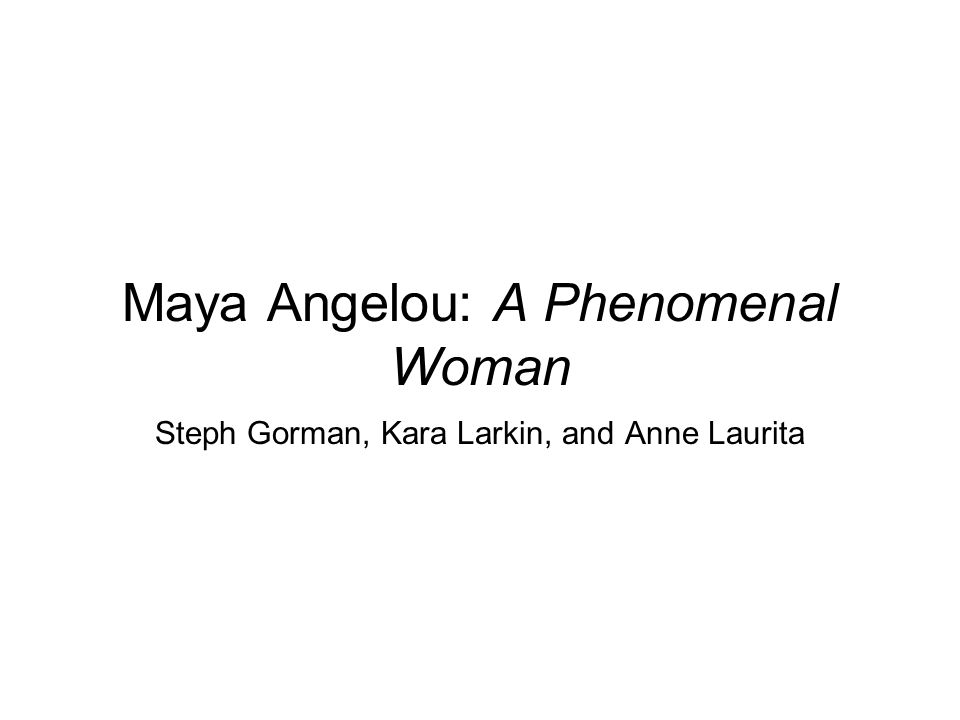 phenomenal woman theme