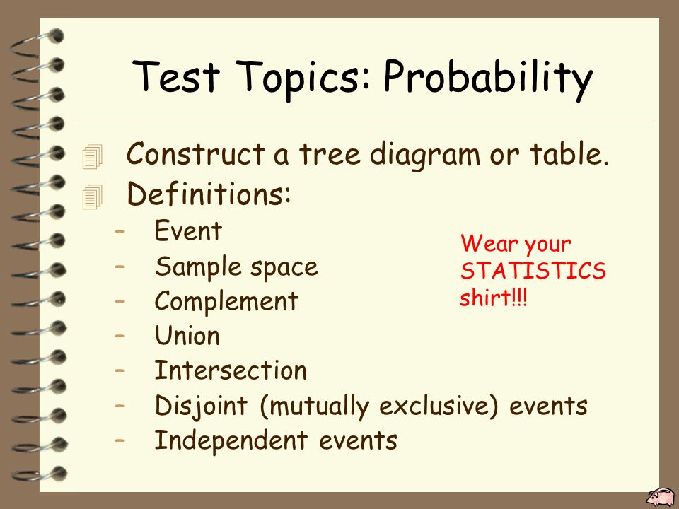 Ap statistics wednesday 20 november 2015 objective tsw review for test topics probability 4 construct a tree diagram or table ccuart Images