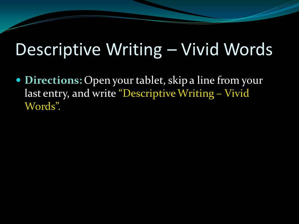 vivid words for writing