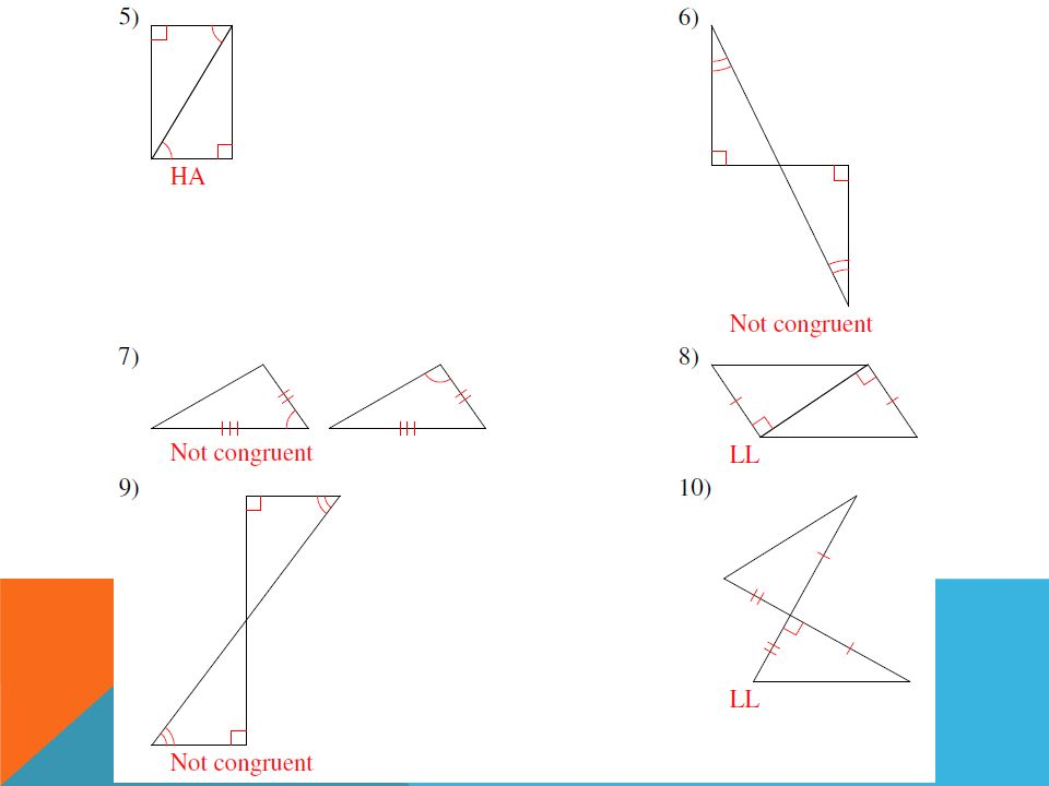 Right Triangle Congruence Worksheet Ratios And Proportions Ppt