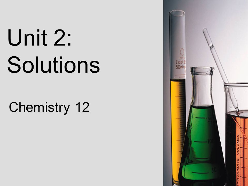 1 unit 2 solutions chemistry 12