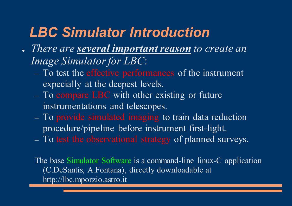 Web Image Simulator Stefano Gallozzi & LBC Team Copyright