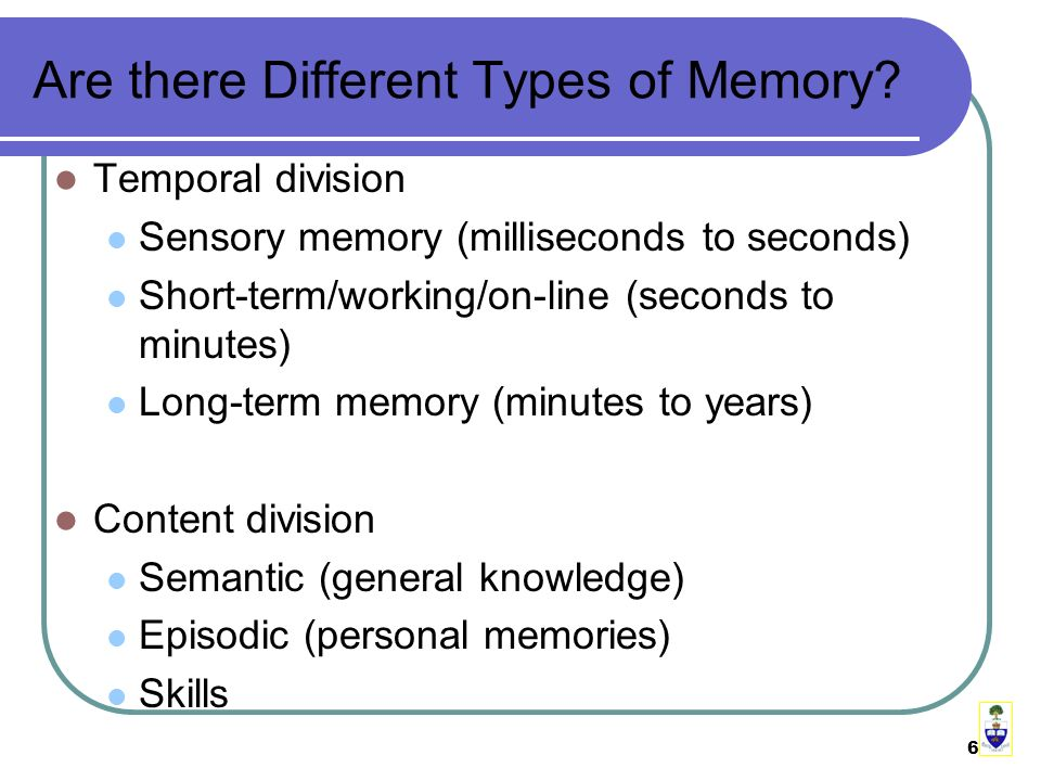 6 Are there Different Types of Memory.