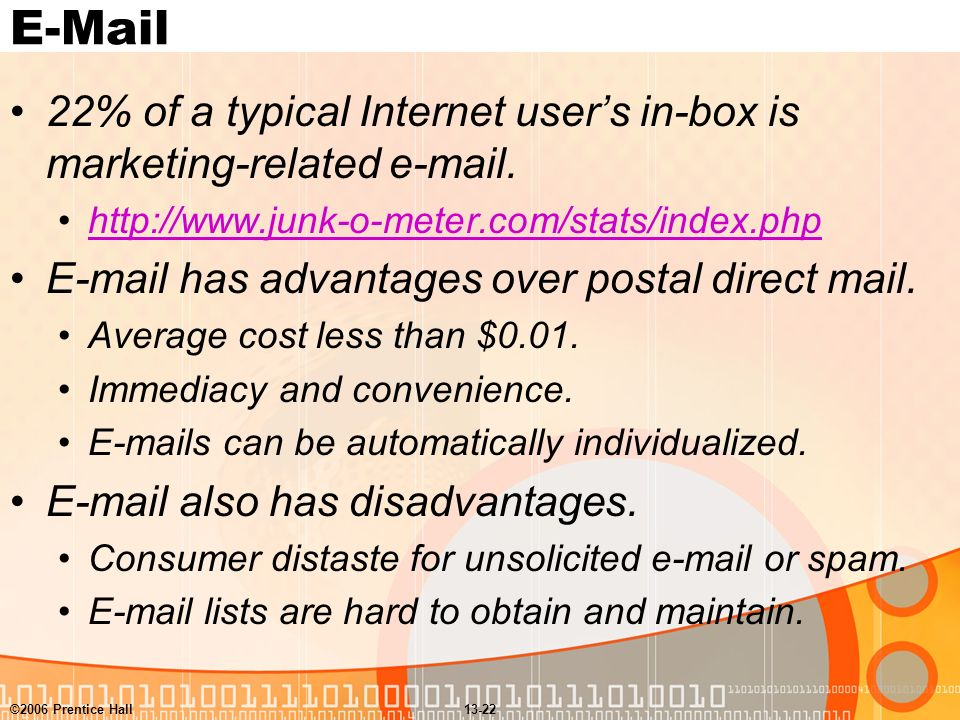 advantages of email over postal mail