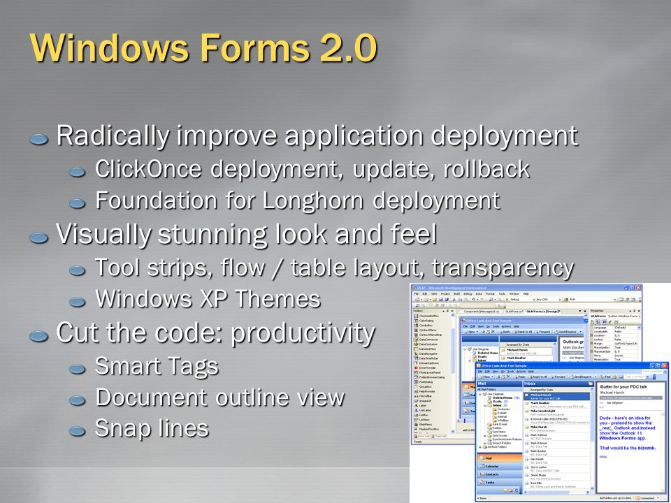 What's New in Windows Forms 2 0 Stephen Turner Software