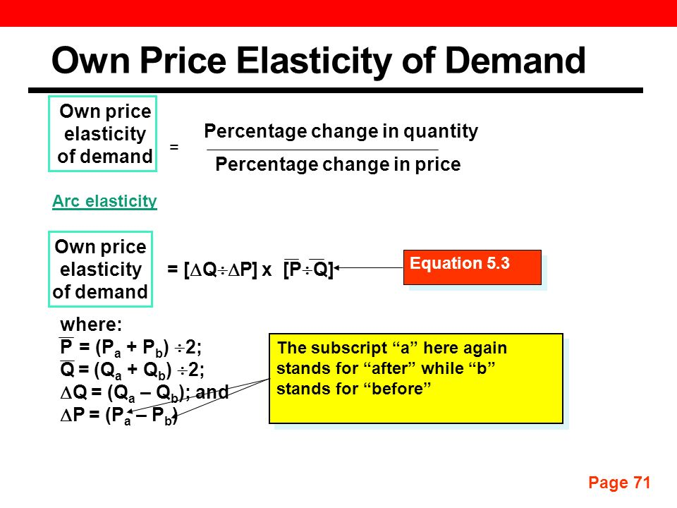 Measurement And Interpretation Of Elasticities Discussion Topics Own Price Elasticity Of Demand Income Elasticity Of Demand Cross Price Elasticity Of Ppt Download