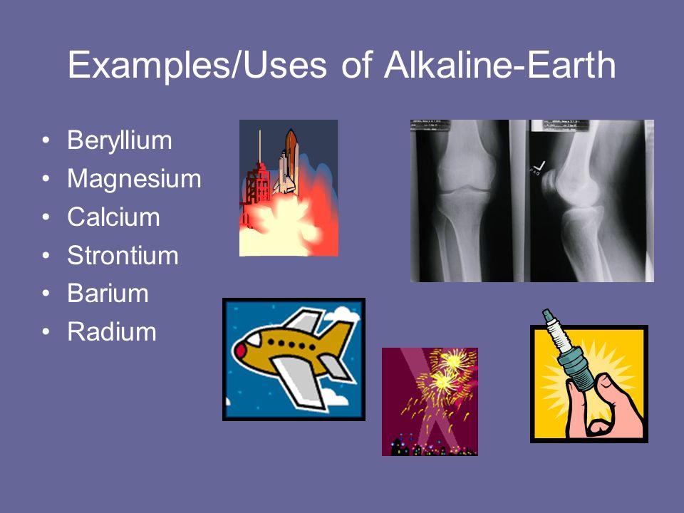 Awesome 9 Examples/Uses Of Alkaline Earth Beryllium Magnesium Calcium Strontium  Barium Radium