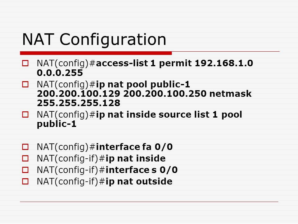 NAT & PAT Network Address Translation Port Address