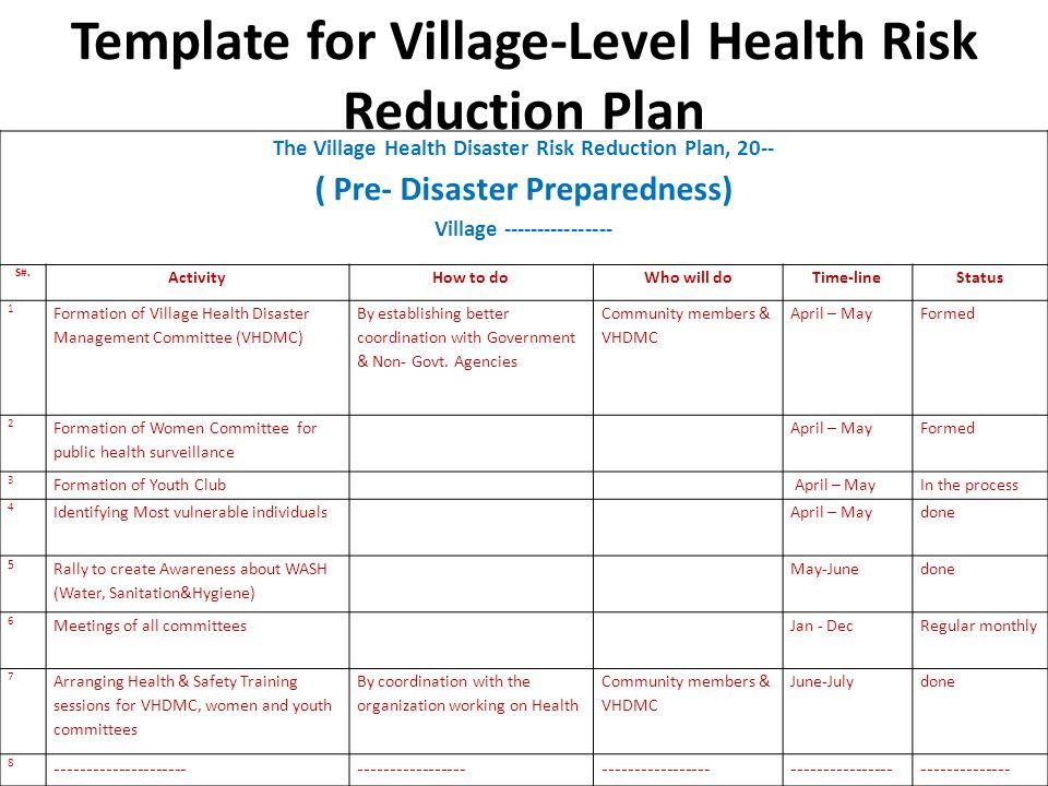 Developing a Village-Level Health Risk Reduction Plan Module 2 ...