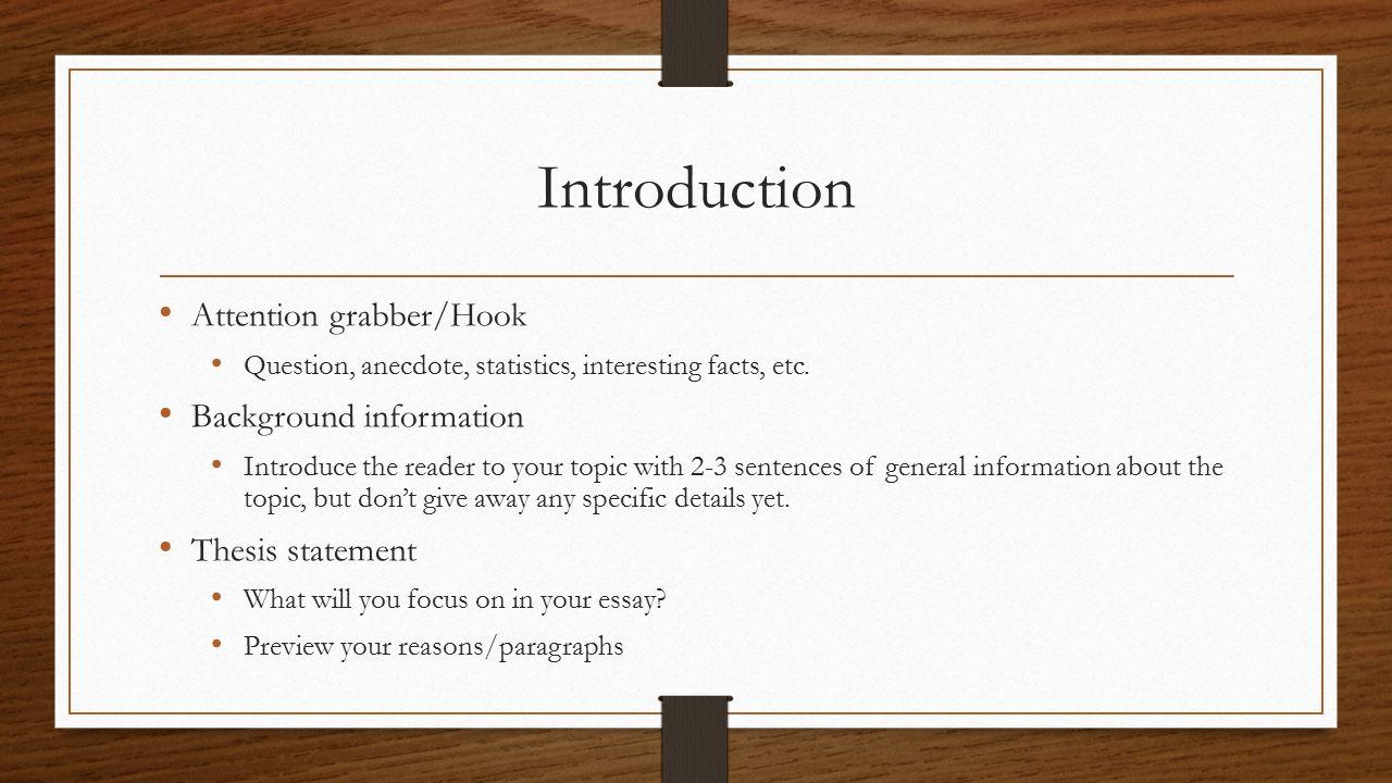 informative essay outline paragraph # 1 introduction paragraph # 2