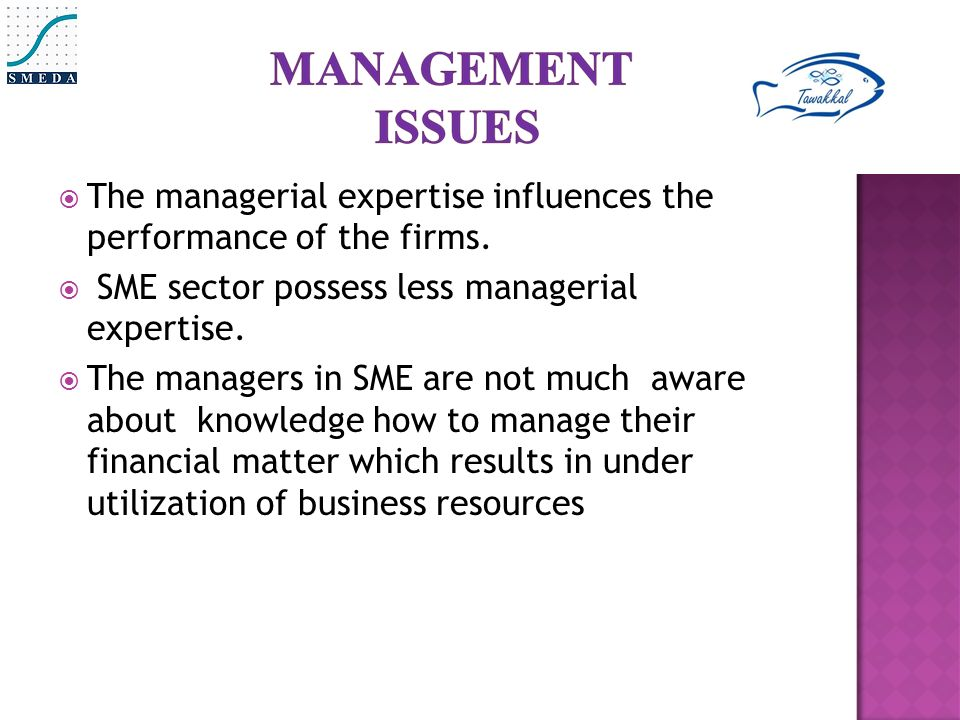  The managerial expertise influences the performance of the firms.