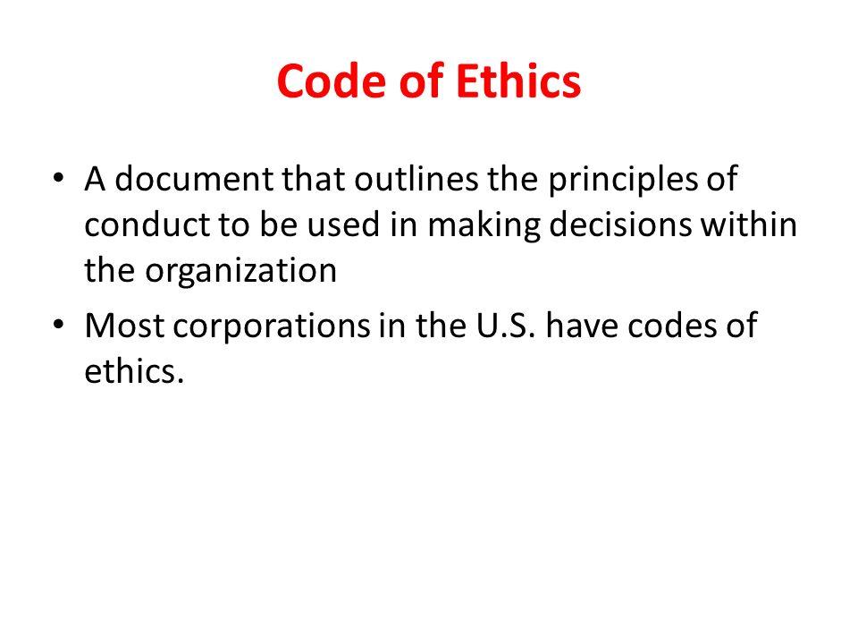 8 Code Of Ethics ...