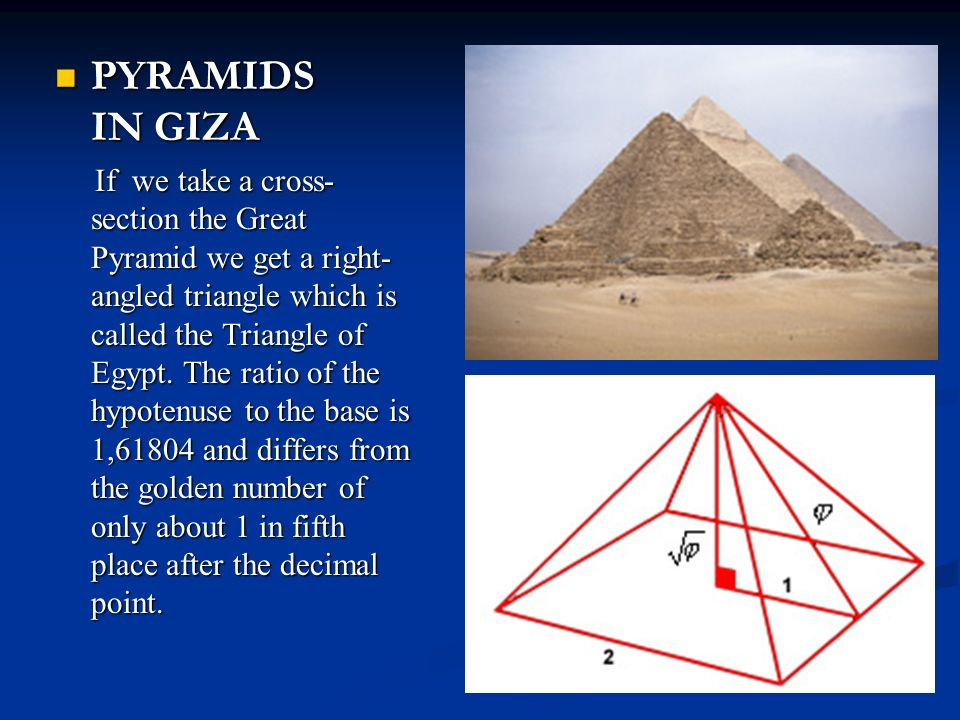 Golden ratio pyramid