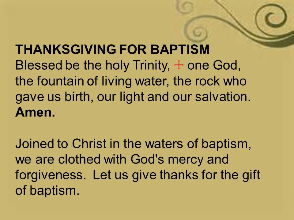 Sunday, January 10, 2016 Baptism of Our Lord, 1st Sunday