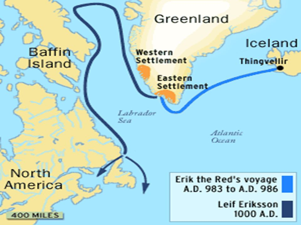 Leif Ericson Map Route Early Exploration In North America. Early Explorations First group