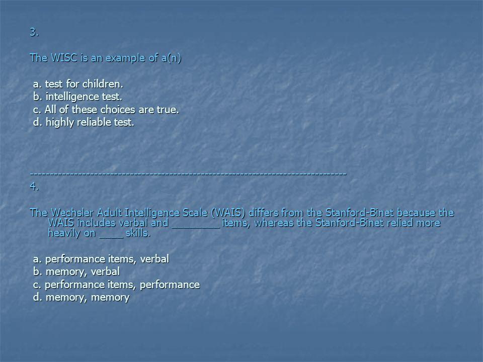 Psychology MCQs ~Intelligence~  1  According to Binet's