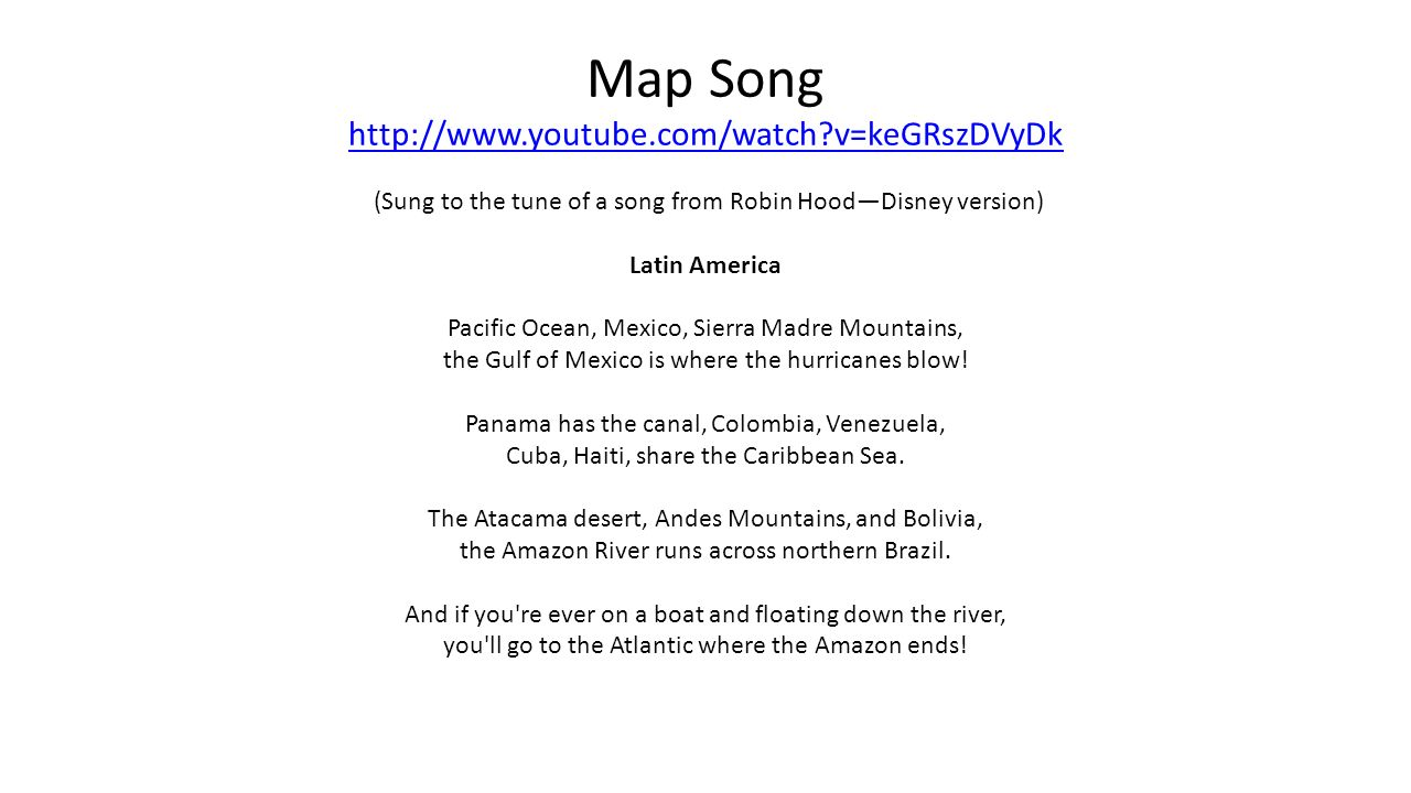 Latin America Map Song.Geography Of Latin America Ss6g1ab The Student Will Locate Selected
