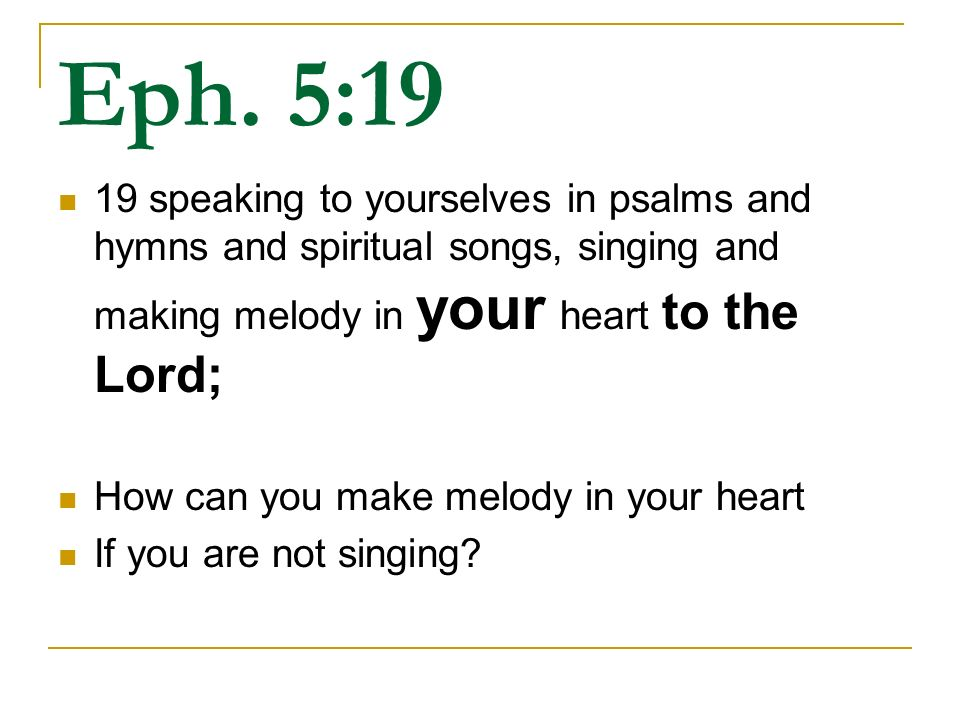 Singing Col  3: What does the Bible say about N T Singing