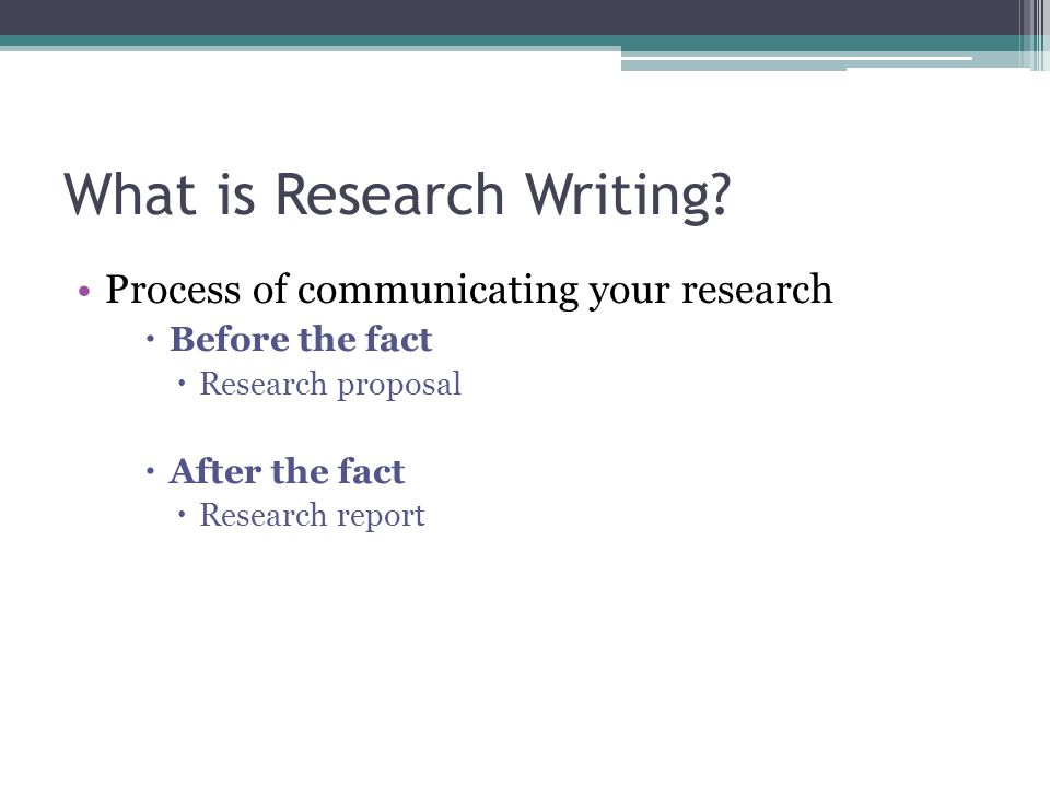 research and writing process