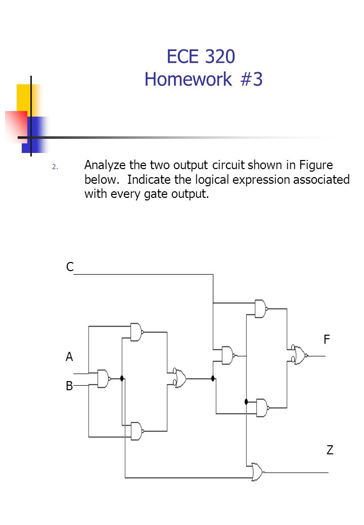 ECE 320 Homework #3 2. Analyze the two output circuit shown in Figure below.