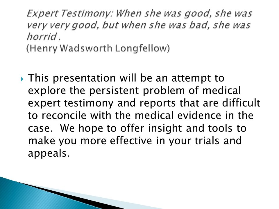 Joshua Potter Jd Karen Fukutaki Md This Presentation Will Be An Attempt To Explore The Persistent Problem Of Medical Expert Testimony And Reports Ppt Download Left hand amputee living my dream and showing those that say i can't that i will. slideplayer
