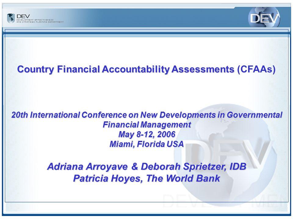 1 Country Financial Accountability