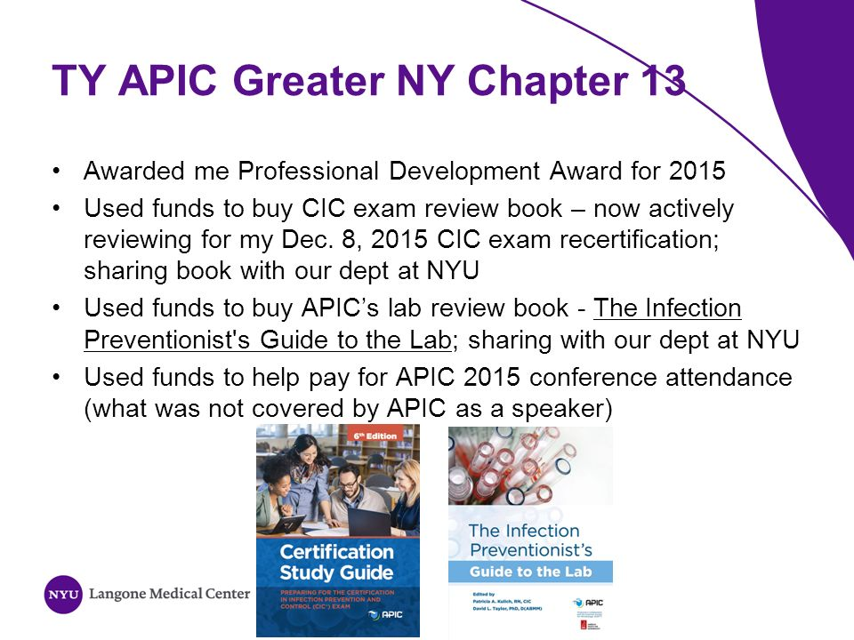 APIC Greater NY Chapter 13 Journal Club Session November 18