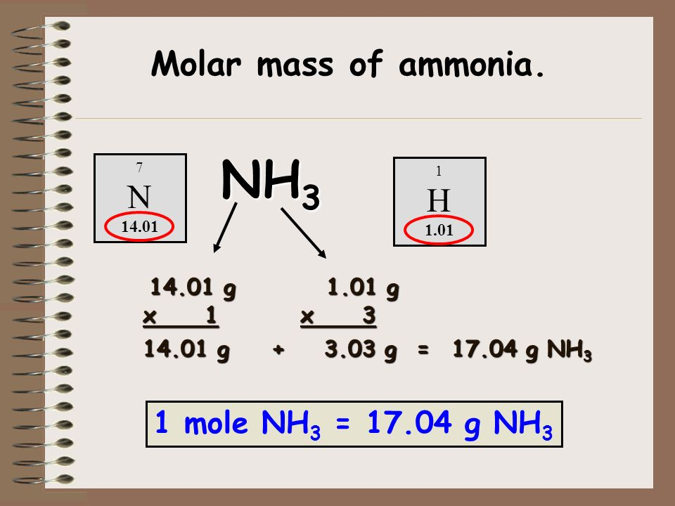 Day 33 notes chapter 7 chemical quantities the mole ppt download 1 mole nh 3 g nh 3 conversion factor 300 mol nh 3 urtaz Choice Image