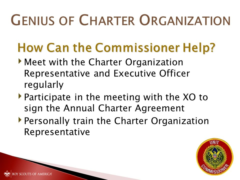 Commissioner Cabinet Monthly Training The Genius Of The Charter