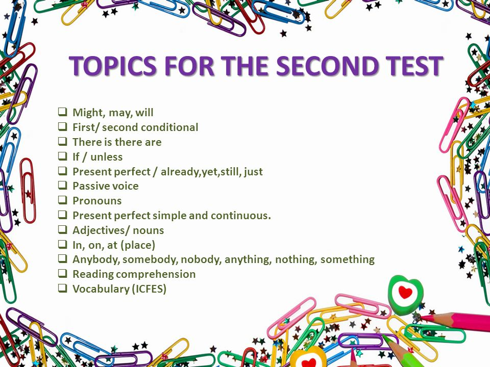 Objectives 1pics For The Second Term Test 2actice Listening