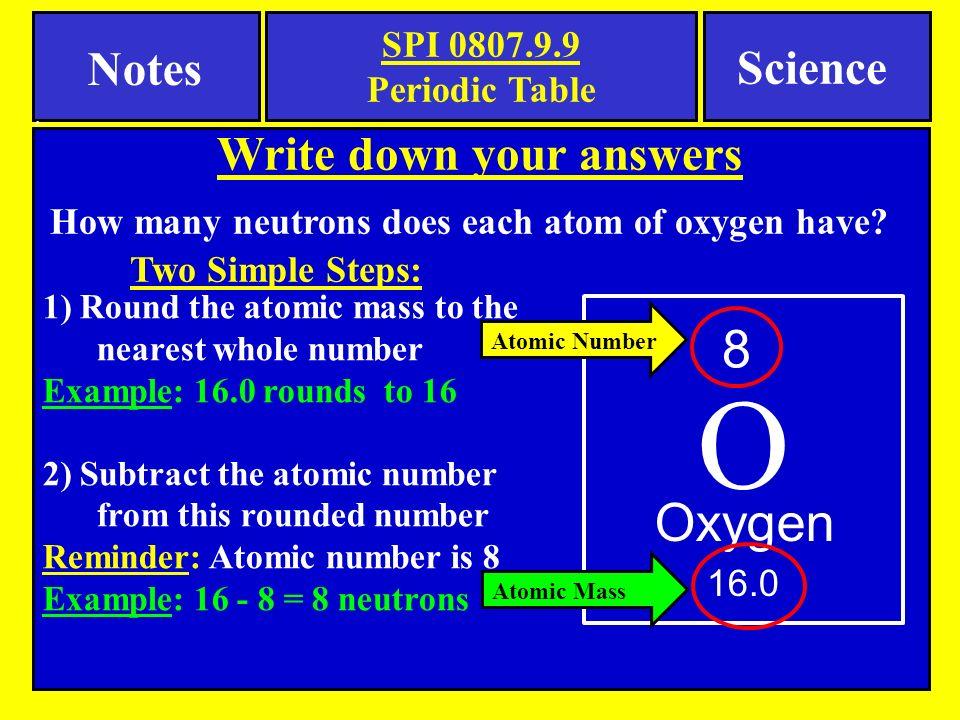 10 Oxygen ...