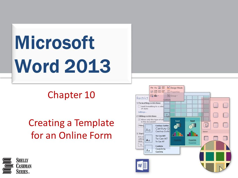 Chapter 10 Creating A Template For An Online Form Microsoft Word Ppt