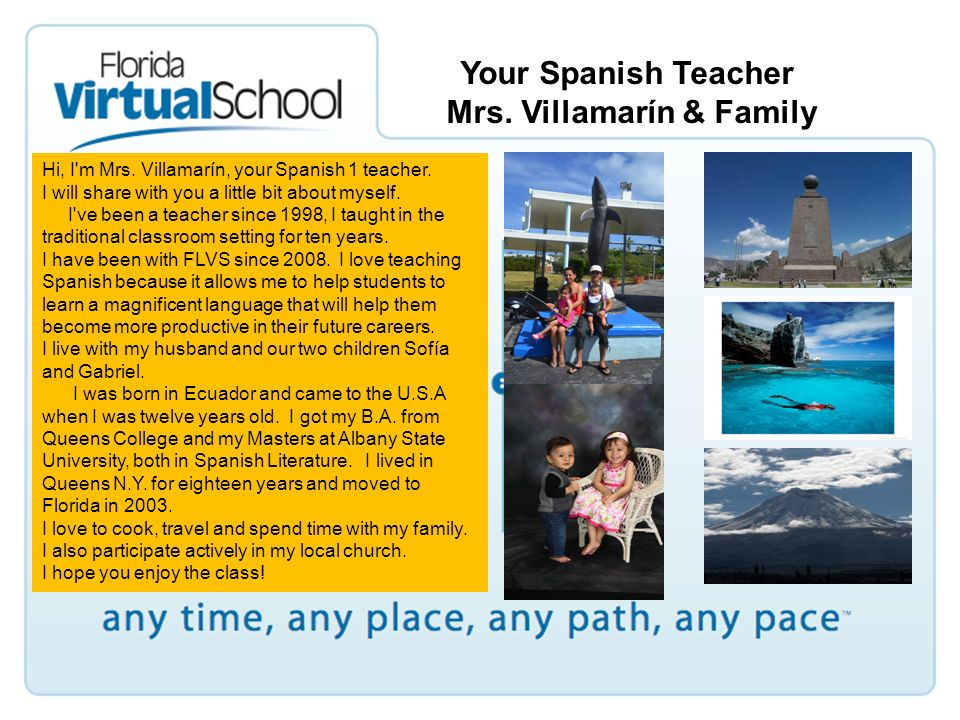 Spanish for Spanish Speakers 1 Course Information  - ppt