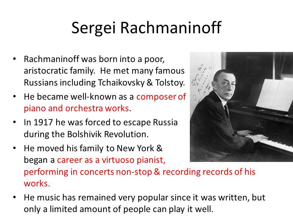 sergei rachmaninoff family
