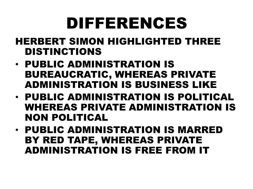 herbert simon public administration