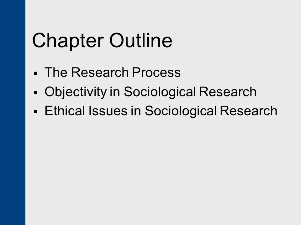 a research on sociology Sociologists examine the world, see a problem or interesting pattern, and set out to study it they use research methods to design a study—perhaps a detailed, systematic, scientific method for conducting research and obtaining data, or perhaps an ethnographic study utilizing an interpretive framework.