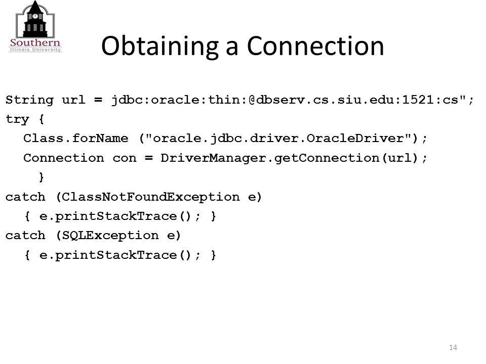 Access Databases from Java Programs via JDBC Tessema M