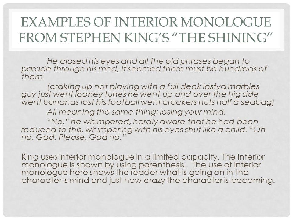 Interior monologue. Gcse english marked by teachers. Com.
