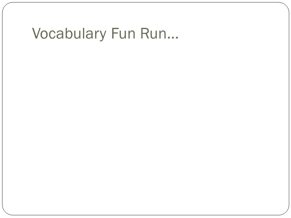 Asexual reproduction related words of run
