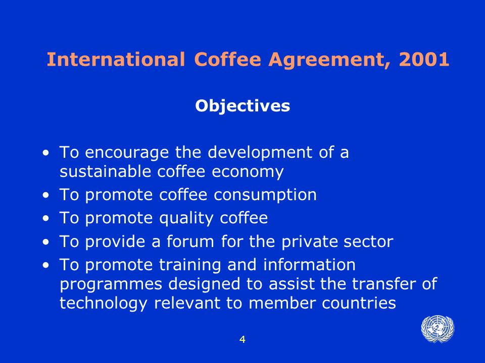 1 Commodity Agreements Sugar Coffee Cocoa Coconut New York May