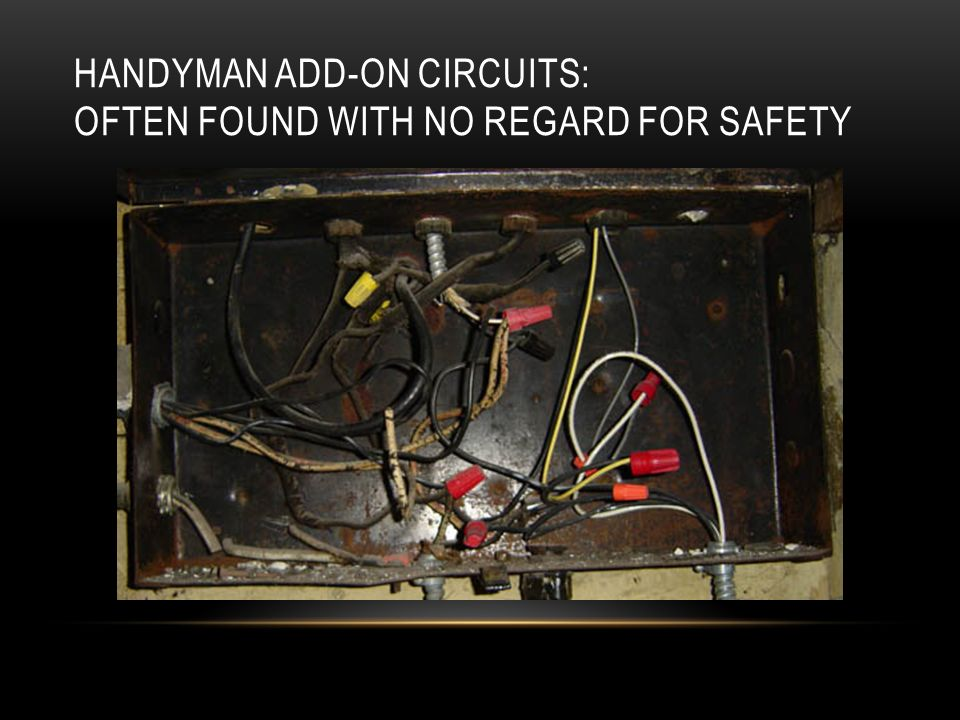 HANDYMAN ADD-ON CIRCUITS: OFTEN FOUND WITH NO REGARD FOR SAFETY