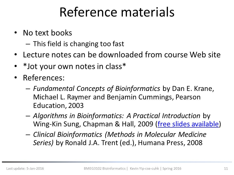 lecture 1 introduction the chinese university of hong kong bmeg3102