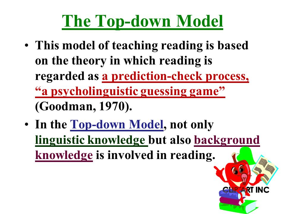 top down theory of reading