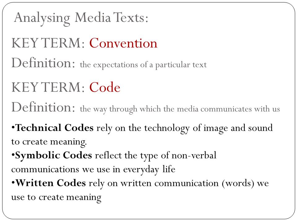 Media Studies An Introduction To Media Language Ppt Download