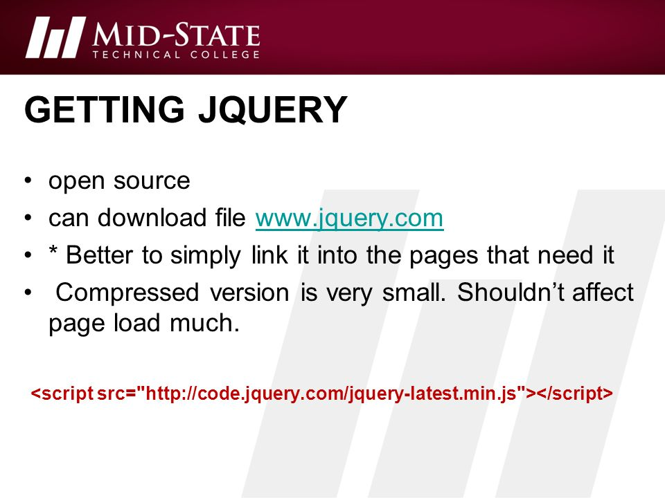 Unit 13 –JQuery Basics Instructor: Brent Presley  - ppt download