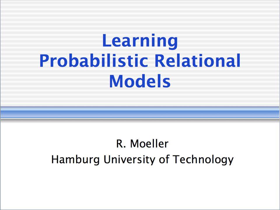Learning Statistical Models From Relational Data Lise Getoor