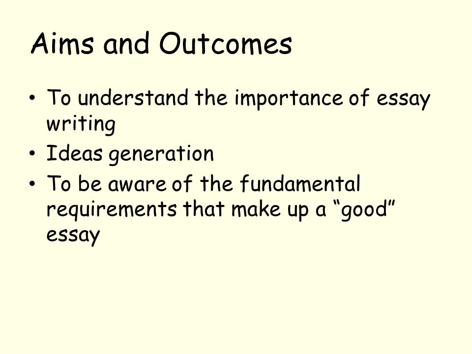Thesis Statement For An Argumentative Essay  Aims And Outcomes To Understand The Importance Of Essay Writing  Thesis Statement Example For Essays also English Essay Question Examples Essay Writing Techniques In Higher Education The Learning Quality  Diwali Essay In English