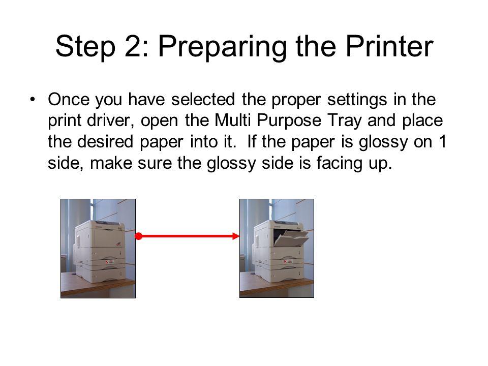 Kyocera Printer Tray Settings